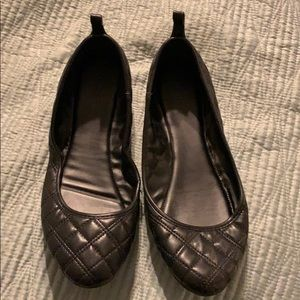 Merona quilted Leather look ballet style shoes